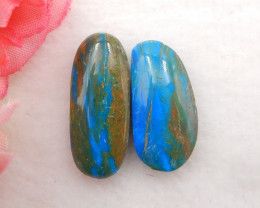 12.5cts Natural Blue Opal Cabochon, October Birthstone, Blue Opal H203