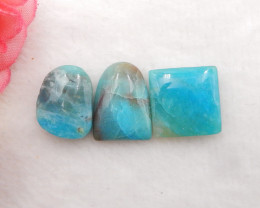 17.5cts Natural Blue Opal Cabochons, October Birthstone, Blue Opal H207
