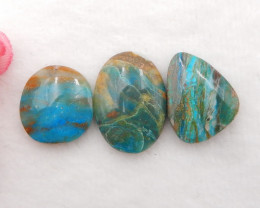 36cts Natural Blue Opal Cabochons, October Birthstone, Blue Opal H211
