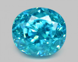 1.68 CTS BLUE ZIRCON NATURAL LOOSE GEMSTONE