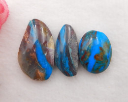 23.5cts Natural Blue Opal Cabochons, October Birthstone, Blue Opal H227