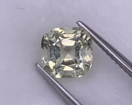 1.77 Cts Amazing Light Yellow Custom Cut Natural Tourmaline