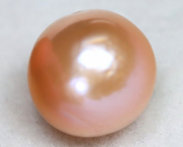 South Sea Pearl 12.6mm Natural Australian Pink Color Salt Water Pear A2316