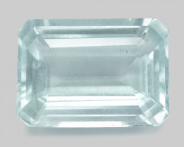 6.45 Cts Un Heated  Blue  Natural Aquamarine Loose Gemstone