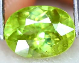 Sphene 1.49Ct VS Oval Cut Natural Vivid Green Color Sphene A2406