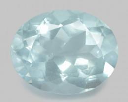 7.18 Cts Un Heated  Blue Natural Aquamarine Loose Gemstone