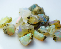 32.40 CT Natural - Unheated White Opal Rough Lot