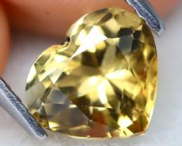 Tourmaline 1.39Ct VS Heart Cut Natural Golden Tourmaline C2418