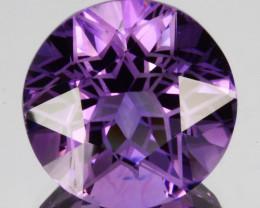 ~CUSTOM CUT~ 3.40 Cts Natural Purple Amethyst Round Cut Bolivia