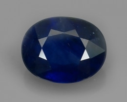 1.90 Cts Natural Intense Beautiful Blue Sapphire Oval Shape From MADAGASCAR