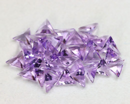 Amethyst 6.93Ct 34Pcs Trillion Cut Natural Bolivian Purple Amethyst C2515