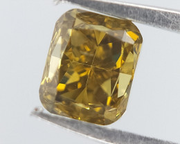 Rare Colour Diamond , Cushion Brilliant Cut , 0.28 cts