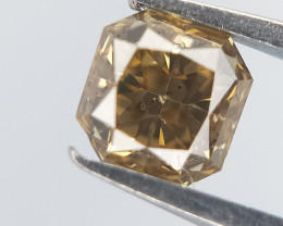 Brown Colour Diamond , Cushion Brilliant Cut , 0.26 cts