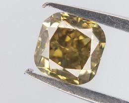 Square Brown Diamond , Cushion Brilliant cut , 0.25 cts