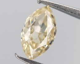 Yellow Tinted Diamond , Marquise Brilliant Cut , 0.23 cts
