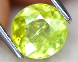 Sphene 1.54Ct Round Cut Natural Vivid Green Color Sphene B2515