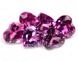Grape Garnet 3.13Ct 6Pcs Heart Cut Natural Purple Grape Garnet Lot A2509