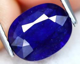 Blue Sapphire 2.29Ct Oval Cut Royal Blue Sapphire A2510