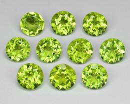 9.19 Cts 10 Pcs Green Color Natural Peridot Gemstones