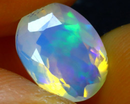 Welo Opal 1.66Ct Natural Faceted Ethiopian Play of Color Opal E2615/A28