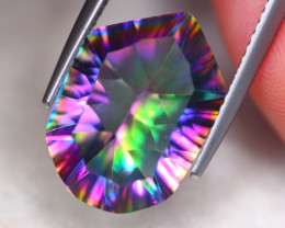 6.64ct Natural Mystic Topaz Fancy Cut Lot V7691