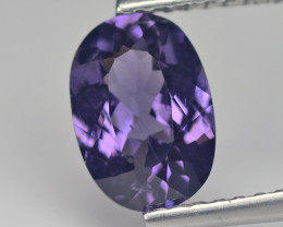 1.401 Cts Purple Gray Burmese Spinel Portuguese cut Oval BGC416