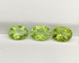 3.95 CT Peridot Gemstones 3pc