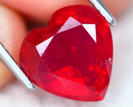 Red Ruby 4.20Ct Heart Cut Pigeon Blood Red Ruby A2710