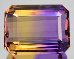 20.04 Cts Natural Bi-Color Ametrine Octagon Cut Bolivia