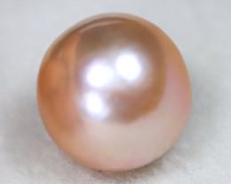South Sea Pearl 12.4mm Natural Australian Pink Salt Water Pearl A2812