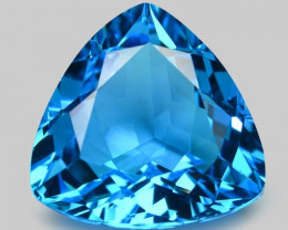 9.13  Carat Swiss Blue Natural Topaz Gemstone