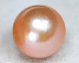 South Sea Pearl 12.1mm Natural Australian Pink Color Salt Water Pearl B2812