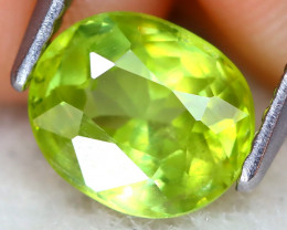 Sphene 1.31Ct VS Oval Cut Natural Vivid Green Color Sphene C2812