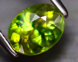 Sphene 1.36Ct Natural Rainbow Flash Green Sphene EF2829/B41
