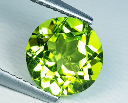 2.87 ct  Top Quality Gem  Round Cut Top Luster Natural Peridot