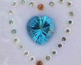Natural Sapphire + Topaz Gems.