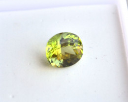 2.27 Carat Fancy Oval Cut Peridot