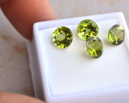 8.18 Carat Matched Parcel of Fine Peridot Rounds