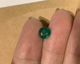 1.07 round cut emerald