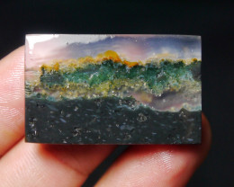 39.90 CT UNTREATED Beautiful Indonesian Moss Agate Picture