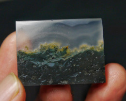80.75 CT UNTREATED Beautiful Indonesian Moss Agate Picture