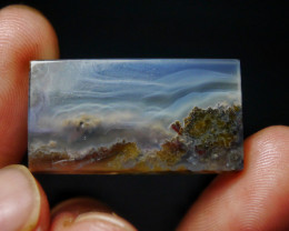 28.60 CT UNTREATED Beautiful Indonesian Moss Agate Picture