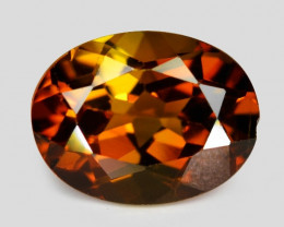 1.44 Cts Yellowish Orange Color Natural Tourmaline Loose Gemstone