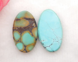 16.5cts Lucky Turquoise ,Handmade Gemstone ,Turquoise Cabochons H244