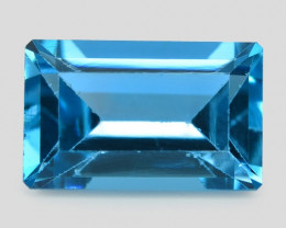3.13  Carat London Blue Natural Topaz Gemstone