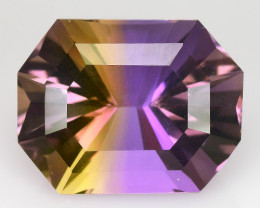 Natural  Bolivian Ametrine 11.41 Cts Top Quality with Precision Cut