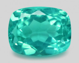 2.41 Cts Un Heated Natural Green Apatite Loose Gemstone