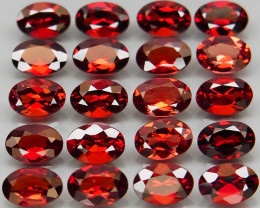 10.79 ct. Natural Earth Mined Red Rhodolite Garnet Africa - 20  Pcs