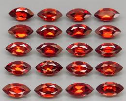 13.17 ct. Natural Earth Mined Red Rhodolite Garnet Africa - 20 Pcs