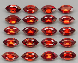 12.87 ct. Natural Earth Mined Red Rhodolite Garnet Africa - 20 Pcs